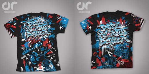 carlosnieto.com t-shirt design graffiti art apparel