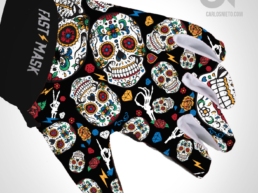 dia de los muertos, day of the dead, motocross gloves, guantes
