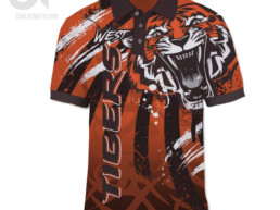 West Tigers Australia Rugby team Polos and sport wear design by CarlosNieto.com